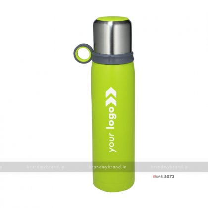 Personalized Steel Cup Green Flask 600ml