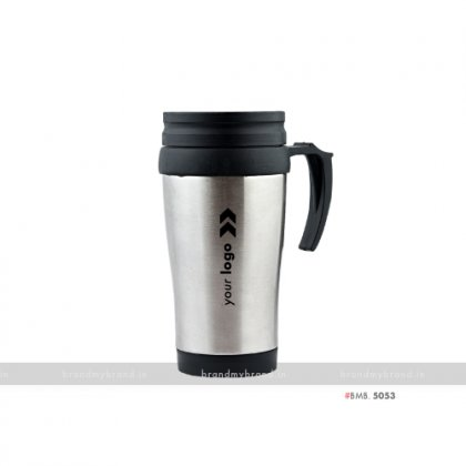 Personalized Steel Mug with inside Plastic 400ml