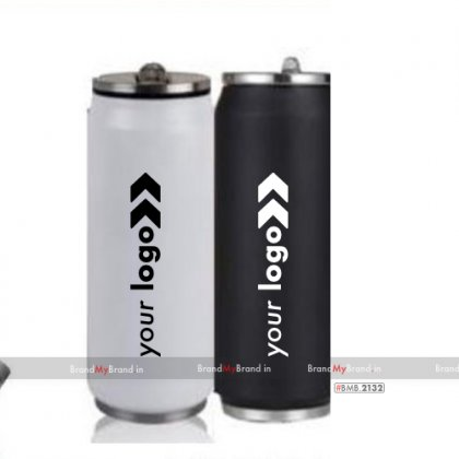 Personalized white/black can sipper (340 ml)