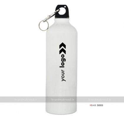 Personalized White Gloss Sports Bottle 750ml