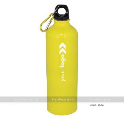 Personalized Yellow Gloss Sports Bottle 750ml