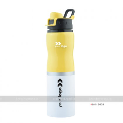 Personalized Yellow White Sipper Bottle 700ml