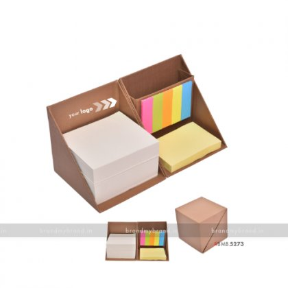 Personalized Brown Cube Box