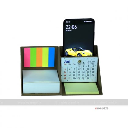 Personalized Brown Cube Box with Calendar