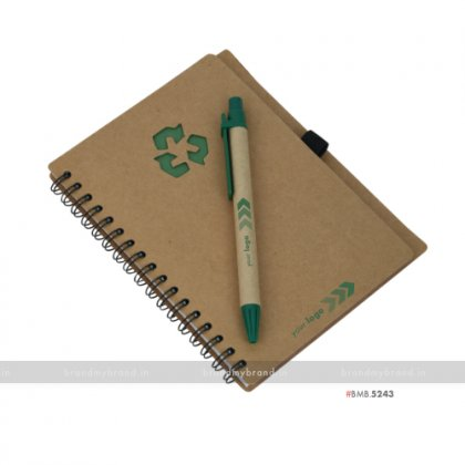 Personalized Green Eco Diary