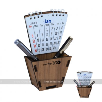 Personalized MDF Pen Stand With Calendar