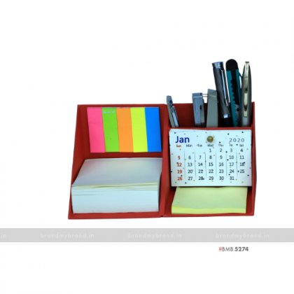 Personalized Red Cube Box with Calendar