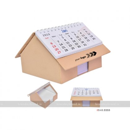 Personalized Red Hut Calendar With Slip Rack