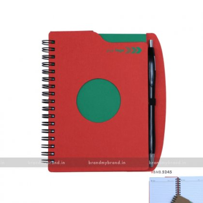 Personalized Red Wiro Notebook