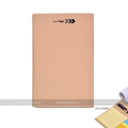 Personalized Ruled Hard Craft Notepad with Stickynotes