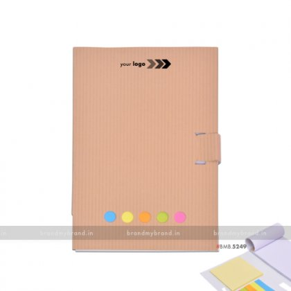 Personalized Ruled white Notepad with Stickynotes