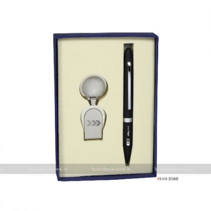 Personalized Amex Pen & Dabur Keychain Set