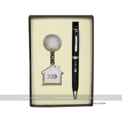 Personalized Pen with Oyo Keychain Set
