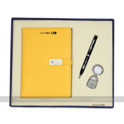 Personalized Pendrive Notebook with Pen & Keychain