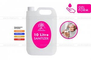 10 Litre Gel Form - Hand Cleanser Sanitizer (HDPE Bottle)