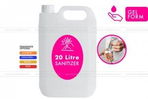 20 Litre Gel Form - Hand Cleanser Sanitizer (HDPE Bottle)