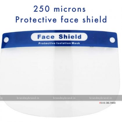 250 microns Protective face shield