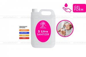 5 Litre Gel Form - Hand Cleanser Sanitizer (HDPE Bottle)