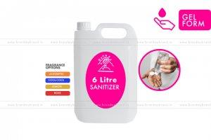 6 Litre Gel Form - Hand Cleanser Sanitizer (HDPE Bottle)
