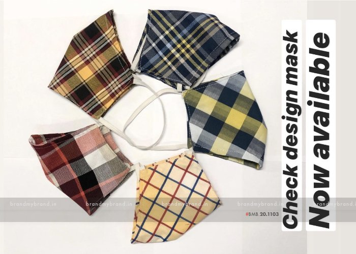 Checked Design 2 - Indian Cloth Mask / Face Cover