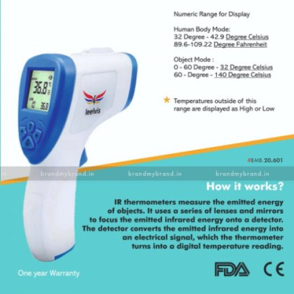 Infrared Thermometer with 1 year warranty, CE and FDA approved