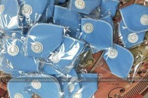 Interlocked- Blue Cloth reusable Mask With Respirators