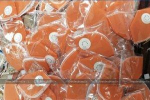Interlocked- Orange Cloth reusable Mask With Respirators
