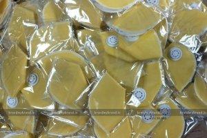 Interlocked- Yellow Cloth reusable Mask With Respirators