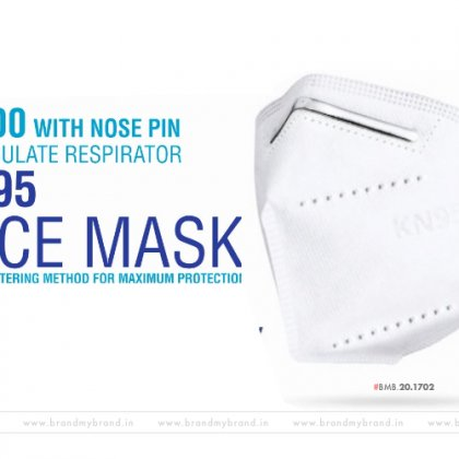 K200/KN95 particulate respirator face mask with nose pin