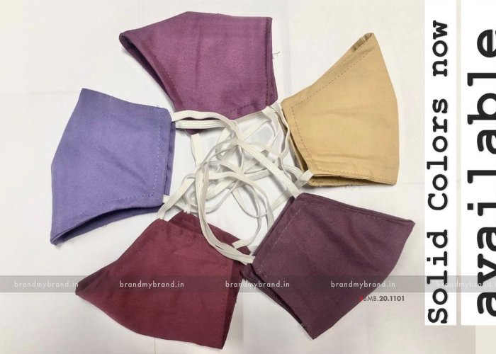 Solid Color - Indian Cloth Mask