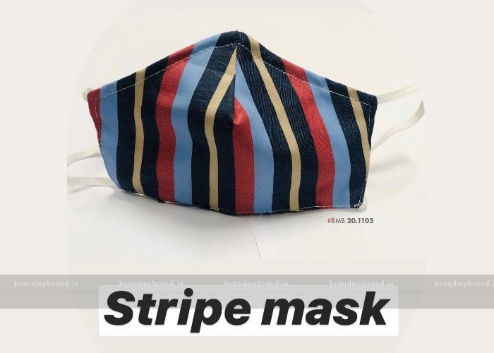 Stripe Cloth Mask - Indian Cloth Mask / Face Cover