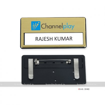 Personalized Channel Play Plastic Name Badge