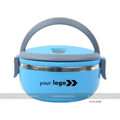 Personalized Blue Matt Single Layer Lunch Box