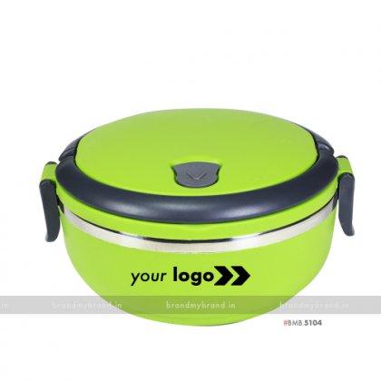 Personalized Green Matt Single Layer Lunch Box