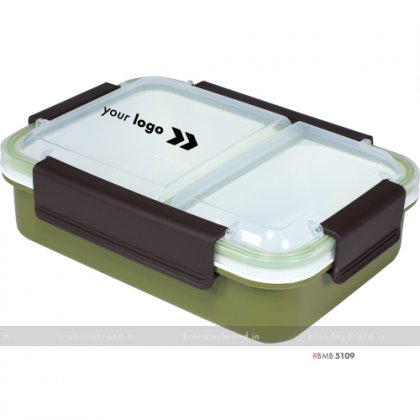 Personalized Military Green 2 Part Lunch Box