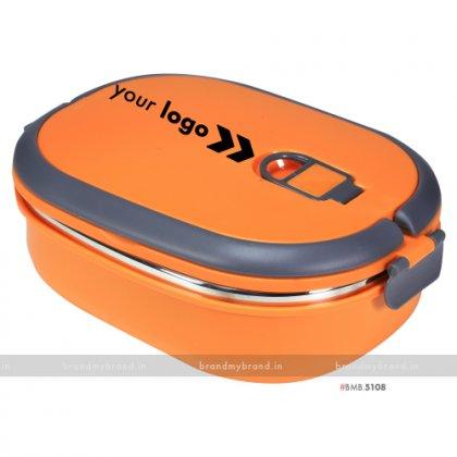 Personalized Orange Matt Big Lunch Box