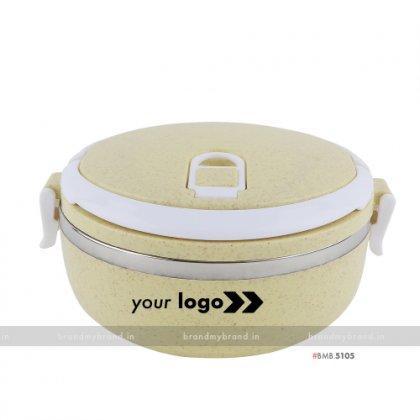 Personalized Yellow Gloss Single Layer Lunch Box