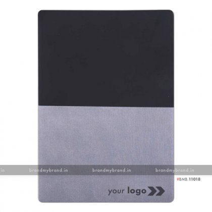 Personalized Black-Grey - Hard Cover A5 Notebook