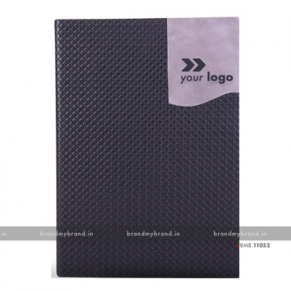Personalized Black - Hard Cover A5 Notebook