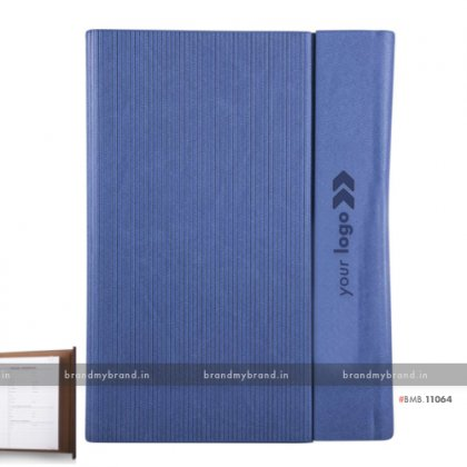Personalized Blue (textured) - Hard Cover A5 Organiser