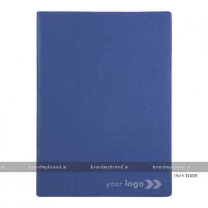 Personalized Blue - Hard Cover A5 Notebook
