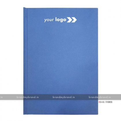 Personalized Blue Texture Paper - Hard Cover A5 Notebook