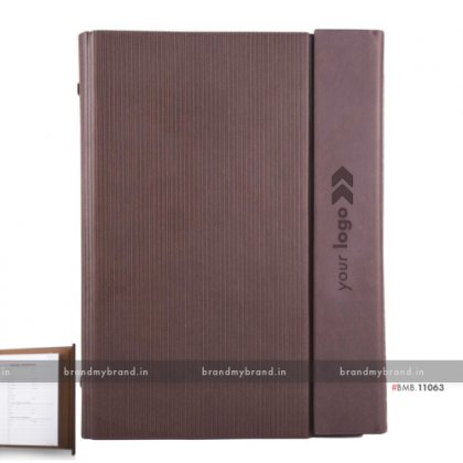 Personalized Brown (textured) - Hard Cover A5 Organiser