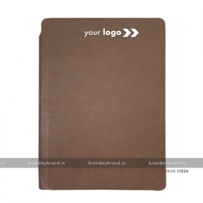 Personalized Brown - Pen Holder - Soft Cover A5 Notebook
