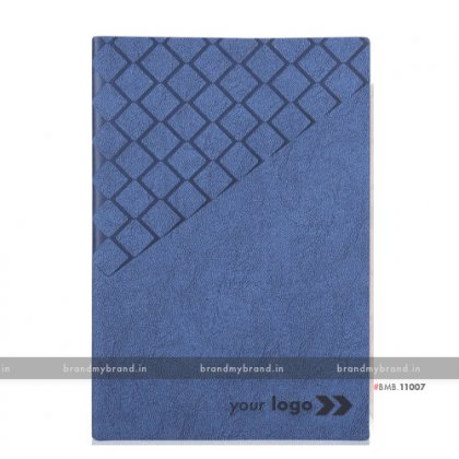 Personalized Dark Blue - Hard Cover A5 Notebook