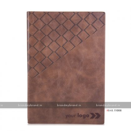Personalized Dark Brown - Hard Cover A5 Notebook