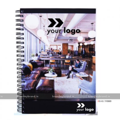 Personalized Full Cover Digital Print (100 GSM unruled, 160 Pages) - soft Cover wiro notebook