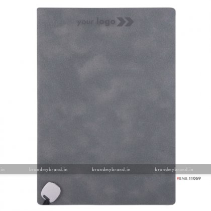 Personalized Grey - Metal Fitting Bookmark - Hard Cover A5 Notebook