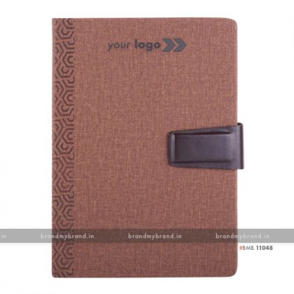 Personalized Jute Loopi - Brown - Hard Cover A5 Notebook