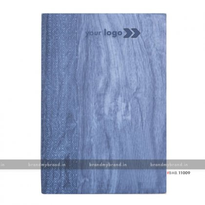 Personalized Light Blue - Hard Cover A5 Notebook